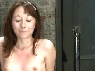 Emma Haize is helpless we clamp her sensitive nipples Flog her swollen pussy, make her squirt!