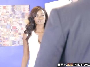 Perfect ass ebony Jezabel Vessir fucked by dirty employee
