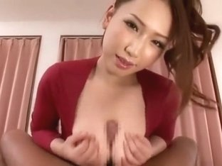 Amazing Japanese whore Ai Sayama in Horny POV, Handjobs JAV video