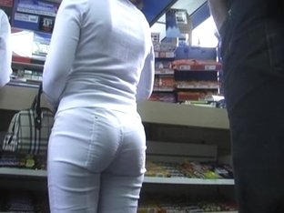 Spying For Sexy Ass in White Pants (+Slow Motion)