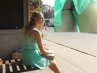 Real Russian girl public upskirt