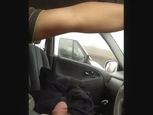 Flashing driving in the car