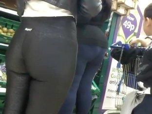 Amazing milf gets an ass hug