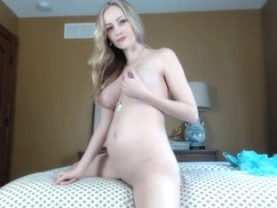 pregnant angel strip in web cam