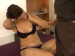 Czech dancer gets hard cock at the casting
