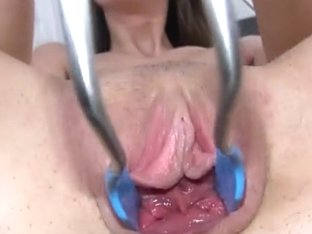 Luxury kitchen toy in her muff pussy