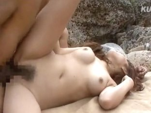 Nana Konishi Amazing Asian model has sex on the beach