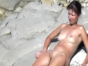 Hot Russian MILF naked in the sun