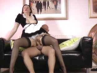 Stockings maid creampie