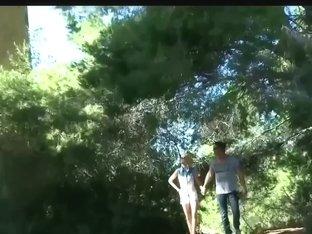 men join couple in woods