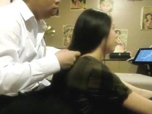 Amazing chinese couple hairjob