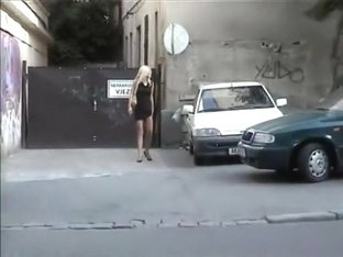 Golden-Haired chick flashing in public