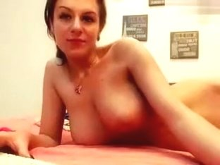 Seleniya dancing with a pole and rubs her pussy