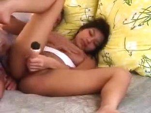 sexy Thai masturbates and blowjob