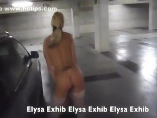 nude in a public parking